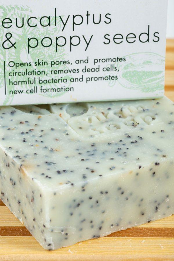 Eucalyptus and Poppy Seeds Virgin Soap