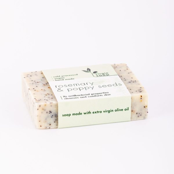 Rosemary and Poppy Seeds Virgin Soap